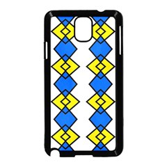 Blue Yellow Rhombus Pattern Samsung Galaxy Note 3 Neo Hardshell Case