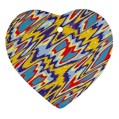 Colorful Chaos Heart Ornament (two Sides)