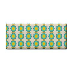 Blue Flowers Pattern Hand Towel