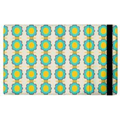 Blue Flowers Pattern Apple Ipad 2 Flip Case
