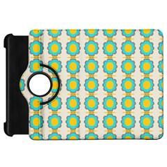 Blue Flowers Pattern Kindle Fire Hd Flip 360 Case