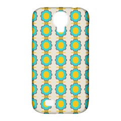 Blue Flowers Pattern Samsung Galaxy S4 Classic Hardshell Case (pc+silicone)