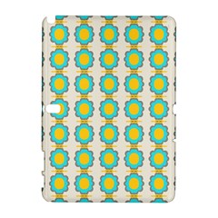 Blue Flowers Pattern Samsung Galaxy Note 10 1 (p600) Hardshell Case