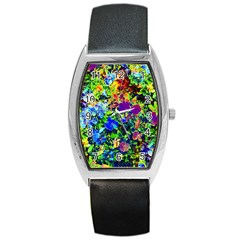 The Neon Garden Barrel Metal Watches