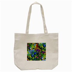 The Neon Garden Tote Bag (cream)