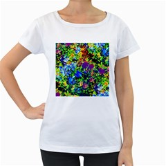 The Neon Garden Women s Loose-Fit T-Shirt (White)