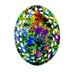 The Neon Garden Ornament (Oval Filigree)