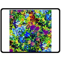 The Neon Garden Double Sided Fleece Blanket (Large)