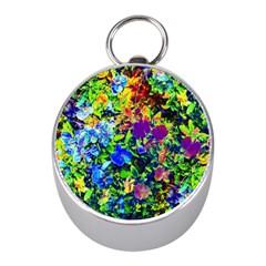 The Neon Garden Mini Silver Compasses