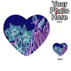 Bluepurple Multi Purpose Cards (heart)