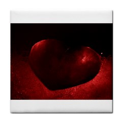Red Heart Tile Coasters