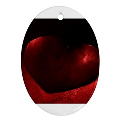 Red Heart Ornament (oval)