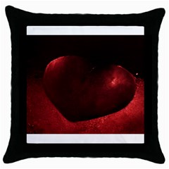 Red Heart Throw Pillow Cases (black)