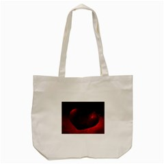 Red Heart Tote Bag (Cream)