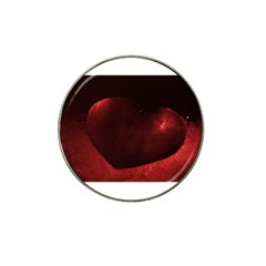 Red Heart Hat Clip Ball Marker