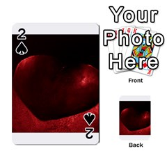 Red Heart Playing Cards 54 Designs