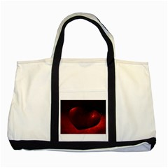 Red Heart Two Tone Tote Bag