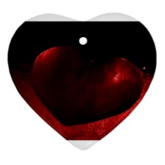 Red Heart Heart Ornament (2 Sides)