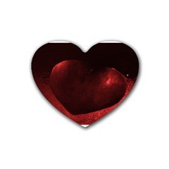 Red Heart Rubber Coaster (heart)
