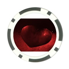 Red Heart Poker Chip Card Guards (10 Pack)