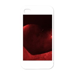 Red Heart Apple Iphone 4 Case (white)