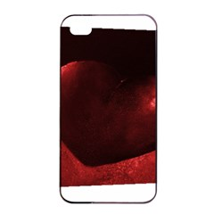 Red Heart Apple Iphone 4/4s Seamless Case (black)