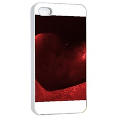 Red Heart Apple iPhone 4/4s Seamless Case (White)
