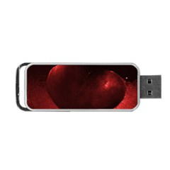 Red Heart Portable Usb Flash (one Side)