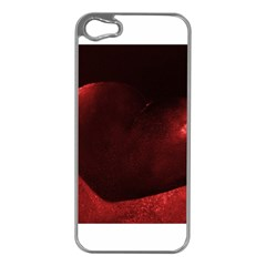 Red Heart Apple Iphone 5 Case (silver)