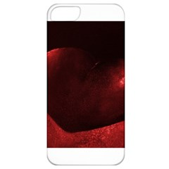 Red Heart Apple Iphone 5 Classic Hardshell Case