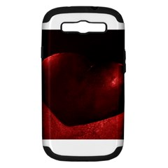 Red Heart Samsung Galaxy S Iii Hardshell Case (pc+silicone)