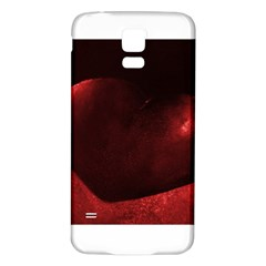 Red Heart Samsung Galaxy S5 Back Case (White)