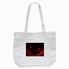 Red Heart Tote Bag (white)