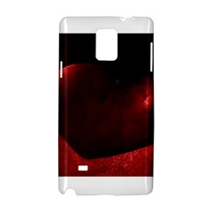 Red Heart Samsung Galaxy Note 4 Hardshell Case