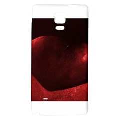 Red Heart Galaxy Note 4 Back Case