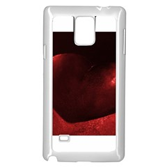 Red Heart Samsung Galaxy Note 4 Case (White)