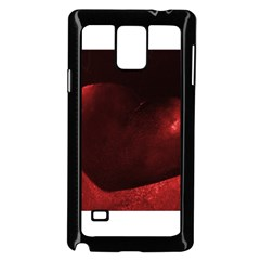 Red Heart Samsung Galaxy Note 4 Case (Black)