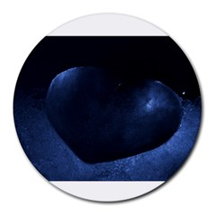 Blue Heart Collection Round Mousepads