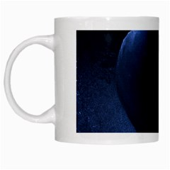 Blue Heart Collection White Mugs