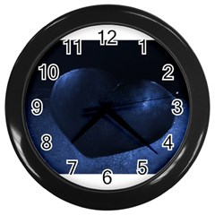 Blue Heart Collection Wall Clocks (black)
