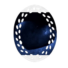 Blue Heart Collection Oval Filigree Ornament (2-Side)