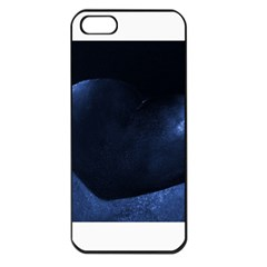 Blue Heart Collection Apple Iphone 5 Seamless Case (black)