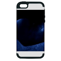 Blue Heart Collection Apple Iphone 5 Hardshell Case (pc+silicone)