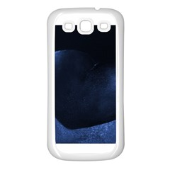 Blue Heart Collection Samsung Galaxy S3 Back Case (white)