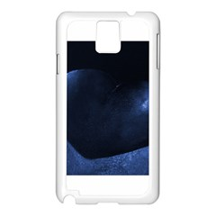 Blue Heart Collection Samsung Galaxy Note 3 N9005 Case (white)