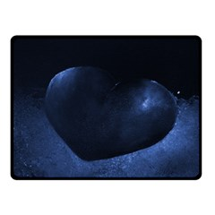 Blue Heart Collection Double Sided Fleece Blanket (small)