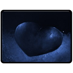 Blue Heart Collection Double Sided Fleece Blanket (Large)