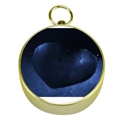 Blue Heart Collection Gold Compasses