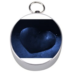 Blue Heart Collection Silver Compasses