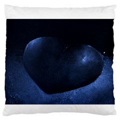 Blue Heart Collection Large Flano Cushion Cases (one Side)